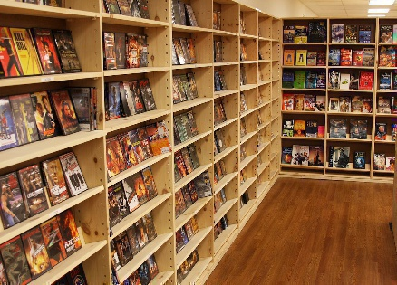 Thousand of DVDs. AFK Books, the largest new and used bookstore in Virginia Beach.